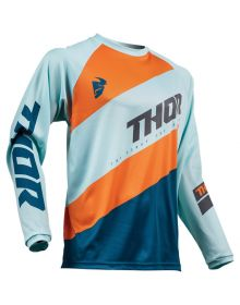Thor 2019 Sector Shear Youth Jersey Sky/Slate