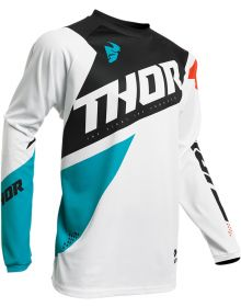 Thor 2020 Sector Blade Youth Jersey White/Aqua