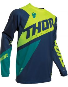 Thor 2020 Sector Blade Youth Jersey Navy/Acid