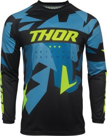 Thor 2021 Sector Warship Youth Jersey Blue/Acid
