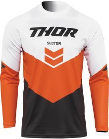 Thor 2022 Sector Chev Youth Jersey Charcoal/Orange