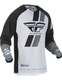 Fly Racing 2019 Evolution DST Youth Jersey Black/White