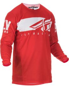 Fly Racing 2019 Kinetic Shield Youth Jersey Red/White