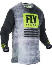 Fly Racing 2019 Kinetic Noiz Youth Jersey Black/Hi-Vis