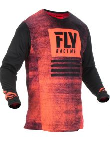 Fly Racing 2019 Kinetic Noiz Youth Jersey Neon Red/Black