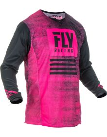 Fly Racing 2019 Kinetic Noiz Youth Jersey Neon Pink/Black