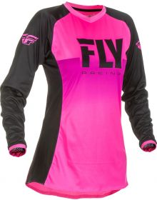 Fly Racing 2019 Lite Girls Youth Jersey Neon Pink/Black
