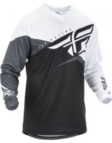 Fly Racing 2019 F-16 Youth Jersey Black/White/Grey