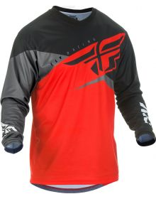 Fly Racing 2019 F-16 Youth Jersey Red/Black/Grey