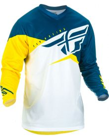 Fly Racing 2019 F-16 Youth Jersey Yellow/White/Navy