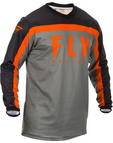 Fly Racing 2020 F-16 Youth Jersey Grey/Black/Orange