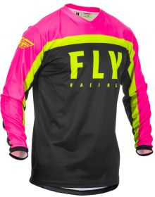 Fly Racing 2020 F-16 Youth Jersey Neon Pink/Black/Hi-Vis