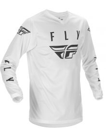 Fly Racing 2021 Universal Youth Jersey White/Black