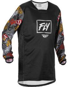Fly Racing 2022 Kinetic Rebel Youth Jersey Black/Grey