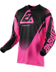 Answer Racing 2019 Syncron Womens Drift Jersey Flo Pink/Black