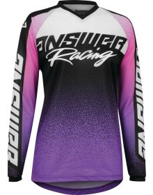 Answer Racing Womens A22 Syncron Prism Jersey Purple/Rhodamine Red/Seafoam
