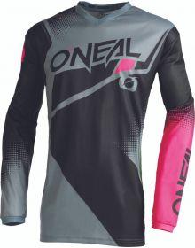 O'Neal 2022 Element Racewear Womens Jersey Black/Grey/Pink