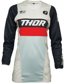 Thor 2021 Pulse Racer Womens Jersey Vintage White/Midnight