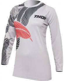 Thor 2022 Sector Urth Womens Jersey Light Gray/Fire Coral