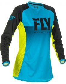 Fly Racing 2019 Lite Womens Jersey Blue/Hi-Vis