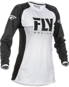 Fly Racing 2019 Lite Womens Jersey White/Black