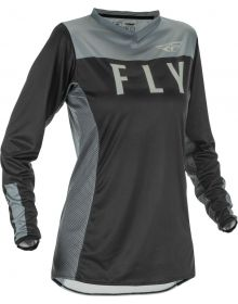 Fly Racing 2021 Lite Womens Jersey Black/Grey