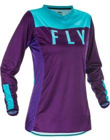 Fly Racing 2021 Lite Womens Jersey Purple/Blue