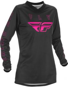 Fly Racing 2021 F-16 Womens Jersey Black/Pink