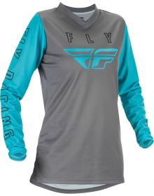 Fly Racing 2021 F-16 Womens Jersey Grey/Blue