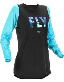 Fly Racing 2022 Lite Race Womens Jersey Black/Aqua