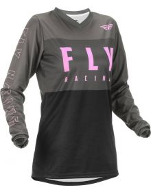 Fly Racing 2022 F-16 Womens Jersey Grey/Black/Pink