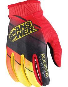 Answer 2014 Rockstar Gloves Black/Red/Yellow