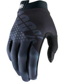 100% I-Track Gloves Black/Gray