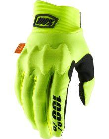 100% Cognito Gloves Flo Yellow/Black
