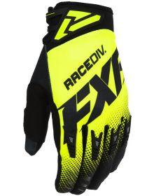 FXR 2020 Factory Ride Adjustable MX Glove Black/Hi Vis