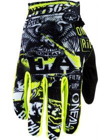 O'Neal 2020 Matrix Glove Attack Black/Neon Yellow