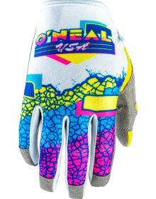O'Neal 2020 Mayhem glove Crackle Yellow/White/Blue