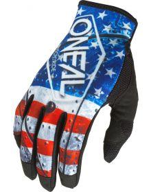 O'Neal 2022 Mayhem USA Gloves Red/White/Blue