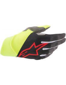 Alpinestars MX Dune Gloves Black/Yellow/Red