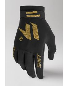 Shift MX Black Label Invisible Gloves Black/Gold