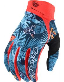 Troy Lee Designs Air Glove LE Cosmic Jungle Orange/Navy