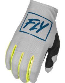 Fly Racing 2022 Lite GlovesGrey/Teal/Hi-Vis