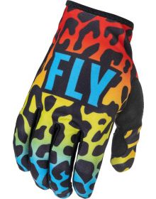 Fly Racing 2022 Lite SE Gloves Exotic Red/Yellow/Blue