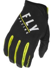 Fly Racing 2022 Windproof Lite Gloves Black/Hi-Vis