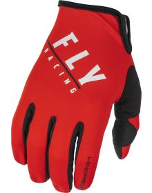 Fly Racing 2022 Windproof Lite Gloves Black/Red