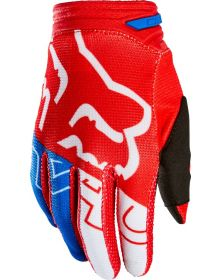 Fox Racing 180 Skew Youth Glove White/Red/Blue