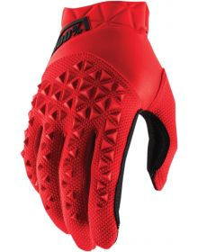100% Airmatic Youth Gloves Red/Black