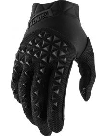 100% Airmatic Youth Gloves Black/Gray