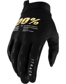 100% I-Track Youth Gloves Black