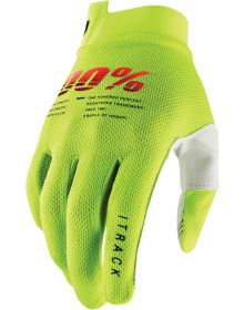 100% I-Track Youth Gloves Flo Yellow